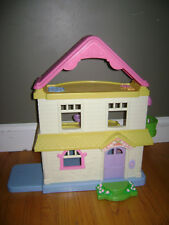 """Fisher Price Loving Family Dollhouse Doll House My First Home 21"""" Vintage 2005"""