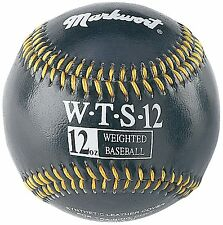 12 oz Ounce Weighted Strength Training Ball Pitcher Pitching Baseball Black