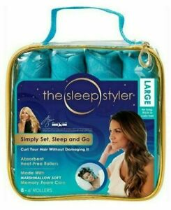 "The Sleep Styler Large12 count 6"" Memory Foam Rollers As Seen On Shark Tank NEW"