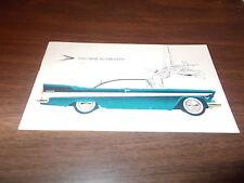 1957 Plymouth Belvedere 2-Door Hardtop Advertising Postcard