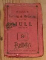 Bacon's Motoring & Cycling Map of Hull and District Vintage Cloth Map