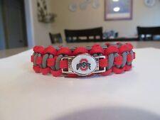 Ohio State Paracord Bracelet -  handmade