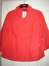 WOMENS M&S COTTON + LINEN JACKET  SIZE 8 NEW WITH TAGS COST £25.00