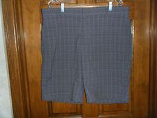 Walter Hagen Gray Plaid Golf Shorts - Size 38 Waist