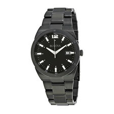 Bulova Black Carbon Fiber Dial Mens Watch 98B234