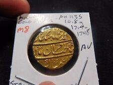 #M8 India Mughal Empire Muhammad Shah AH-1135 YR-5 GOLD Mohur 10.8g AU KM-439.4