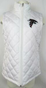 Atlanta Falcons Womens Size Medium Embroidered Quilted White Vest AFAL 140