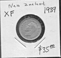 NEW ZEALAND - BEAUTIFUL HISTORICAL GEORGE VI SILVER 6 PENCE, 1939, KM# 8