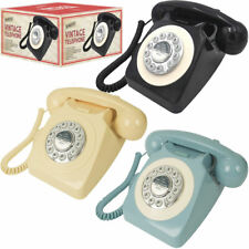 Classic British Retro Vintage Style Home Telephone Push Button Dial Bell Ringer