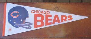 Vintage Pennant Chicago Bears Team Logo Football