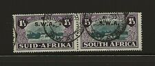South West Africa 1939 Huguenot sg.113 used pair