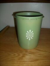 "Tupperware Vintage Sevalier Green  no lid  # 811 canister 5 3/4"" across 6"" tall"