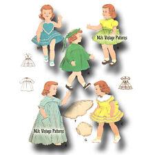 """Vtg 1950s Pattern ~ 14"""" Saucy Walker Doll Clothes Sunsuit Party Dress Coat"""