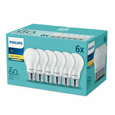 6 x Philips E27 LED Lampe Birne 9W warmweiss 2700K wie 60W