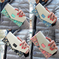 2016 Womens Ladies Bag Envelope Leather Wallet Button Clutch Purse Long Handbag