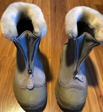 Columbia Omni Heat Women's Size 5 Boots Winter Purple Fur Warm Lining Polyester