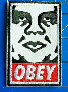 OBEY CRESCENT FACE PATCH, DRESS UP YO RAGGEDY ASS!