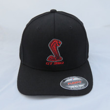 SHELBY GT350 EMBROIDERED FLEX FIT HAT BLACK L/XL FORD RACING MUSTANG CAP