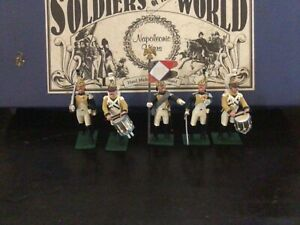 Regal Toy soldiers Napoleonic 5 French Dragoons command set