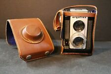 Vintage Camera - Argus Forty Argoflex Camera - 7.5 MM f/4.5 with leather case