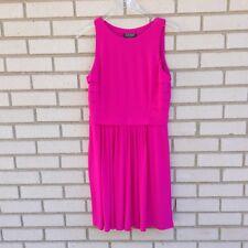 Lauren Ralph Lauren Womens Dress Hot Pink Stretch Sleeveless Shift Career Size 8