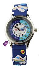 TD Kids Teach me time hora los niños aprenden reloj de pulsera inglés aviador tdx5567