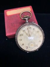 Swiss 800 Silver Open Face Pocket Watch (not running) As Is A98