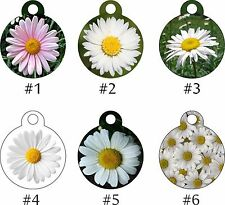 Pet Tags Personalized Pet ID tag for Dog and Cat ROUND Tags Charm DAISY color