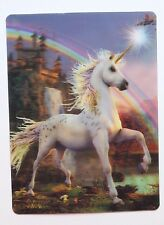3D Unicorn Horse Fantasy Rainbow Pastel Goth Vintage 80s Postcard Sticker