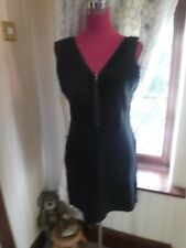 Stunning All Saints Gaea Zip Dress Black Size 14 Excellent Condition