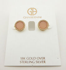 GIANI BERNINI Pink Stone Stud Earring Msrp $50.00