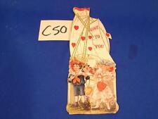 C50 Vintage Mechanical Die Cut Valentine Card
