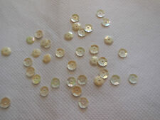 Bridal Wedding Champagne Hologram Round Cupped Sequins 6mm approx1700/pack 20g