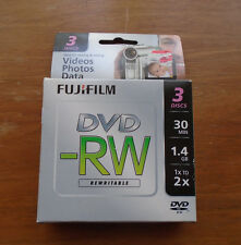 Fujifilm Camcorder Mini Blank Disc Rewritable 1.4GB 30min Fujifilm NIP 3 discs
