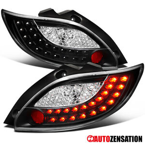 For 2011-2012 Mazda 2 Black LED Tail Lights Brake Lamps Replacement Pair