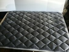 "Furrybaby Dog Bed, Soft Crate Mat, Anti-Slip Bottom, L 39""x28"" - Silver"