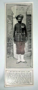 1900 A SIKH FROM INDIA NOW FIGHTING IN CHINA ~ They Are Magnificent Fighters