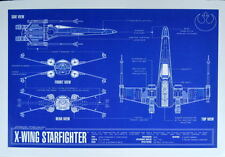 X-WING STARFIGHTER BLUEPRINT Star Wars Zanart Entertainment