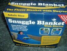 Blanket Snuggle Plush Soft Fleece Wrap With Sleeves Winter Cosy Warm Snug