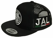 JALISCO MEXICO HAT 2 LOGOS  BLACK MESH SNAPBACK ADJUSTABLE NEW HAT
