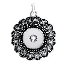 NEW  Crystal Alloy Pendant for Fit Noosa Necklace Snap Chunk Button A75