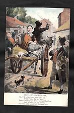 Posted 1906 from Dublin to Preston. Illustrated Song Card - The Low-backed Car