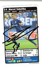 Marcel Sobotta  Quartettkarte 2014 FC Schalke 04  mit original Unterschrift !