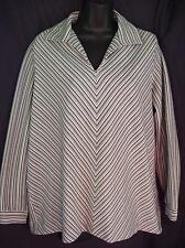 Vintage 70's Mod Era Mr Alex Colman Chevron Stripes Pullover Shirt Top Size L