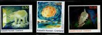 Greenland Sc 560-62 2010  Contemporary Art stamp set  mint NH