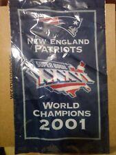 NFL NEW ENGLAND PATRIOTS SUPERBOWL XXXVI CHAMPIONS 2001-FLAG / BANNER