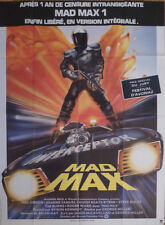 MAD MAX - THE ROAD WARRIOR - CAR - GIBSON - ORIGINAL LARGE FRENCH MOVIE POSTER