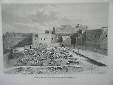 GRAVURE SUR BOIS 1885 BETHLEEM CISJORDANIE EGLISE DE LA NATIVITE EXTERIEUR