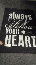 heart rug shabby style