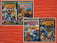 Lot of 4 Fantastic Four # 136 137 138 139 FN/VF Avg Bronze Age Marvel Comics!